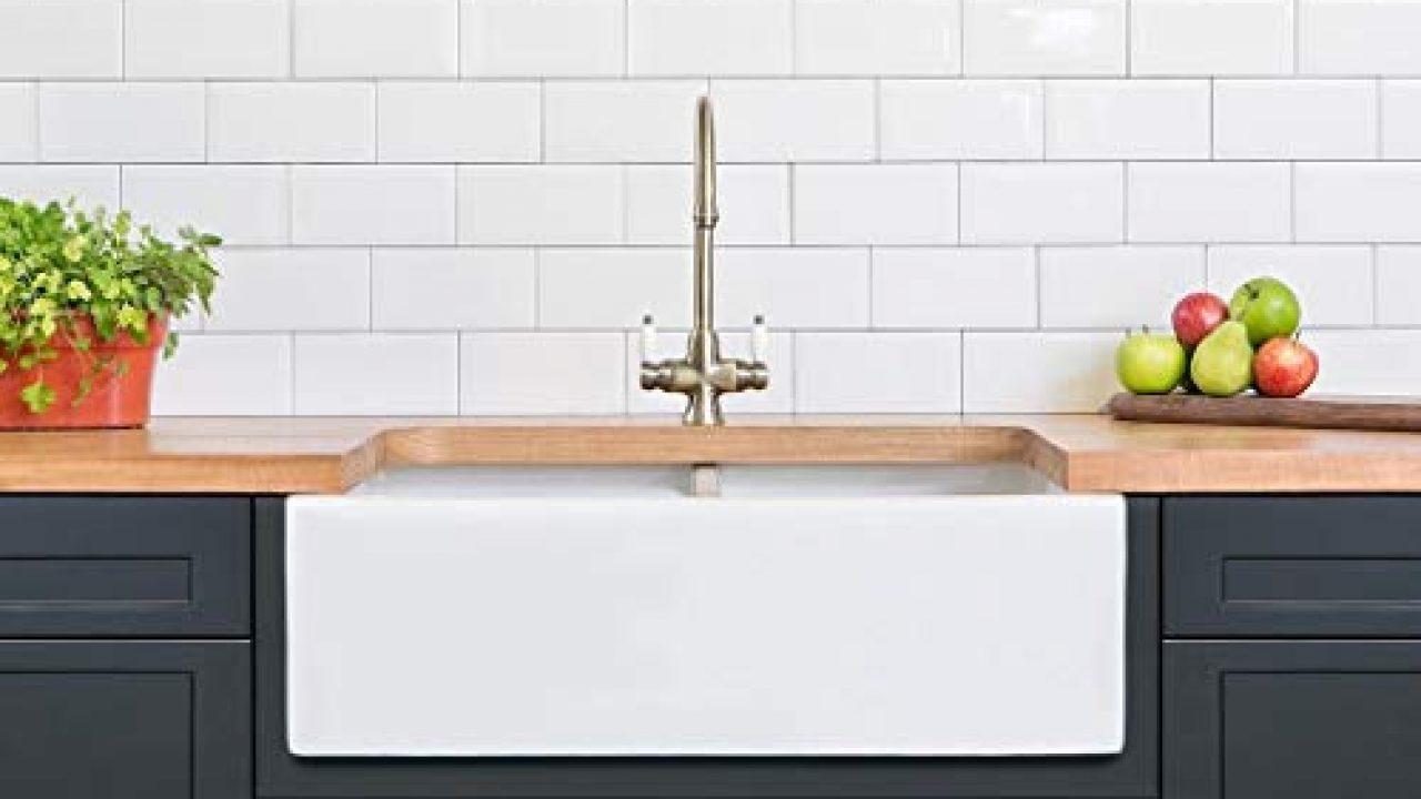 Luxury 33 X 20 Inch Modern Farmhouse Ultra Fine Fireclay Kitchen Sink In White 50 50 Double Bowl Reversible By Barkano Farmhouse Goals