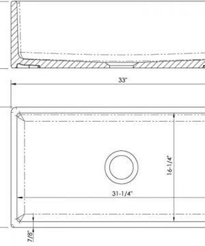 Fireclay Farm House Apron Front MSFC33PLN 33 Plain Kitchen Sink 0 1 300x360