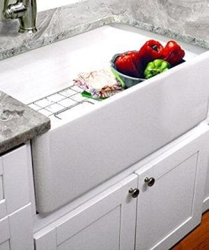 Highpoint Collection 30 Inch Single Bowl Fireclay Ceramic Farmhouse Kitchen Sink 0 300x360