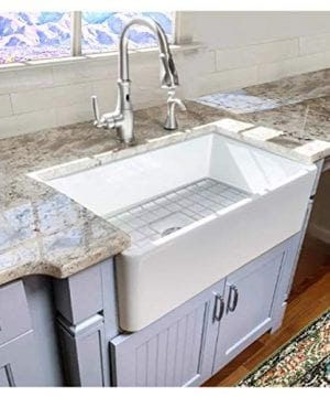 Highpoint Collection 30 Inch Single Bowl Fireclay Ceramic Farmhouse Kitchen Sink 0 5 300x360