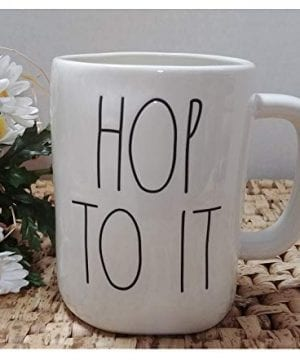 Hop To It Rae Dunn Coffee Mug Artisan Collection By Magenta Easter 0 300x360