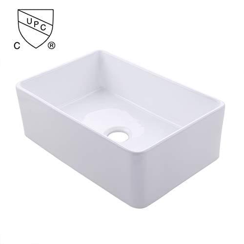 KES CUPC Fireclay Sink Farmhouse Kitchen Sink 30 Inch Porcelain Undermount Rectangular White BVS117 0 0