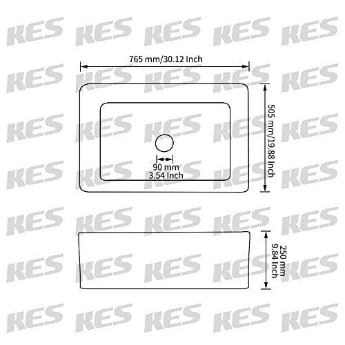 KES CUPC Fireclay Sink Farmhouse Kitchen Sink 30 Inch Porcelain Undermount Rectangular White BVS117 0 1