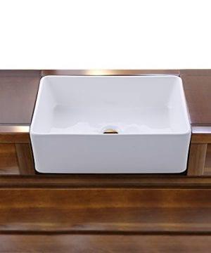 KES CUPC Fireclay Sink Farmhouse Kitchen Sink 30 Inch Porcelain Undermount Rectangular White BVS117 0 2 300x360