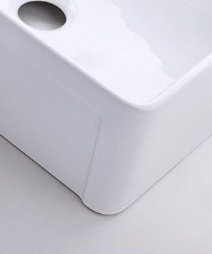 KES CUPC Fireclay Sink Farmhouse Kitchen Sink 30 Inch Porcelain Undermount Rectangular White BVS117 0 3 300x360