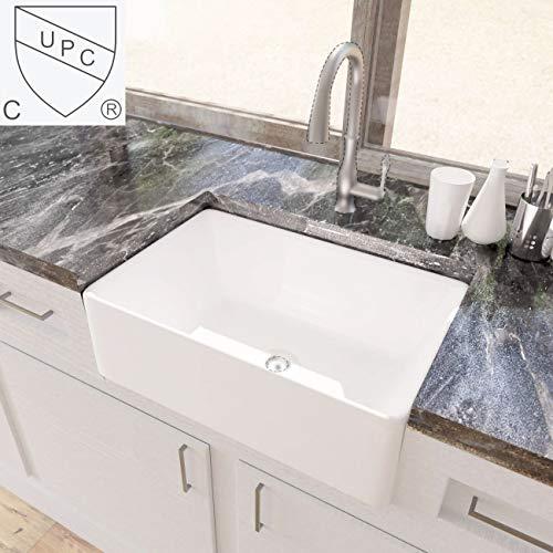 Magnificent Kes Cupc Fireclay Sink Farmhouse Kitchen Sink 30 Inch Porcelain Undermount Rectangular White Bvs117 Download Free Architecture Designs Scobabritishbridgeorg