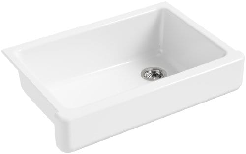 KOHLER K 5826 0 Whitehaven Self Trimming Under Mount Single Bowl Sink With Short Apron White 0 2
