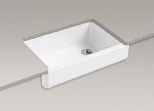 KOHLER K 5826 0 Whitehaven Self Trimming Under Mount Single Bowl Sink With Short Apron White 0 3