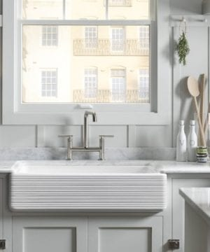 KOHLER K 6349 0 Whitehaven Hayridge Under Mount LargeMedium Double Bowl Kitchen Sink With Tall Apron White 0 0 300x360