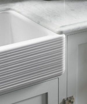 KOHLER K 6349 0 Whitehaven Hayridge Under Mount LargeMedium Double Bowl Kitchen Sink With Tall Apron White 0 2 300x360