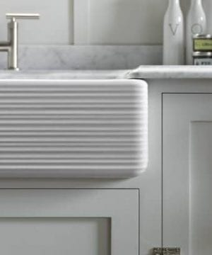 KOHLER K 6349 0 Whitehaven Hayridge Under Mount LargeMedium Double Bowl Kitchen Sink With Tall Apron White 0 3 300x360