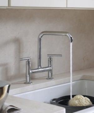 KOHLER K 6488 0 Whitehaven Self Trimming Apron Front Single Basin Sink With Short Apron White 0 1 300x360