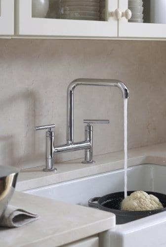 KOHLER K 6488 0 Whitehaven Self Trimming Apron Front Single Basin Sink With Short Apron White 0 1
