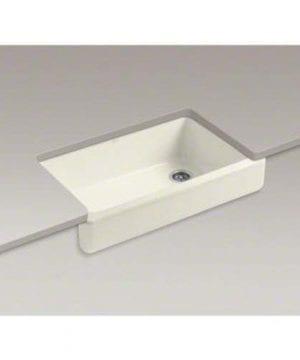 KOHLER K 6488 96 Whitehaven Self Rimming Apron Front Single Basin Kitchen Sink With Short Apron Biscuit 0 0 300x360