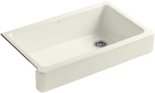KOHLER K 6488 96 Whitehaven Self Rimming Apron Front Single Basin Kitchen Sink With Short Apron Biscuit 0