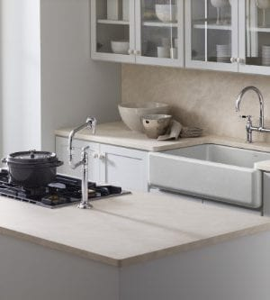 KOHLER K 6489 0 Whitehaven Self Trimming Apron Front Single Basin Sink With Tall Apron White 0 1 300x333