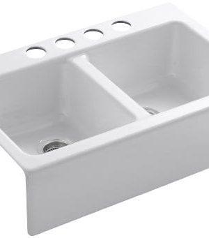 KOHLER-K-6534-4U-0-Hawthorne-Apron-Front-Undercounter-Kitchen-Sink-White-0