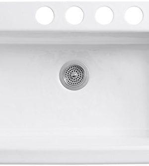 KOHLER K 6546 4U 0 Dickinson Apron Front Undercounter Kitchen Sink White 0 0 300x334