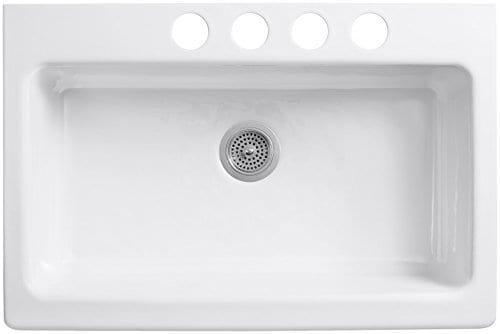 KOHLER K 6546 4U 0 Dickinson Apron Front Undercounter Kitchen Sink White 0 0