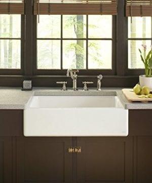 KOHLER K 6546 4U 0 Dickinson Apron Front Undercounter Kitchen Sink White 0 1 300x360