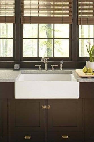 KOHLER K 6546 4U 0 Dickinson Apron Front Undercounter Kitchen Sink White 0 1