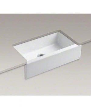 KOHLER K 6546 4U 0 Dickinson Apron Front Undercounter Kitchen Sink White 0 2 300x360