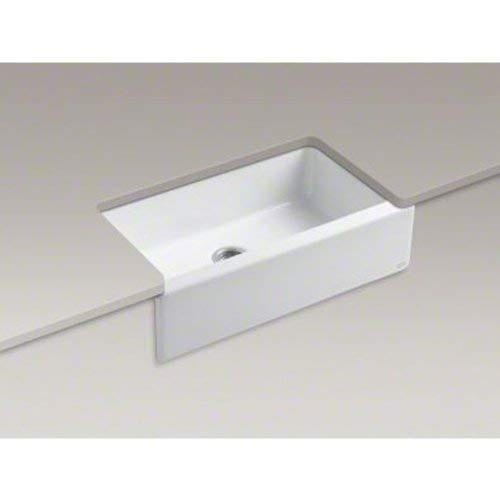 KOHLER K 6546 4U 0 Dickinson Apron Front Undercounter Kitchen Sink White 0 2
