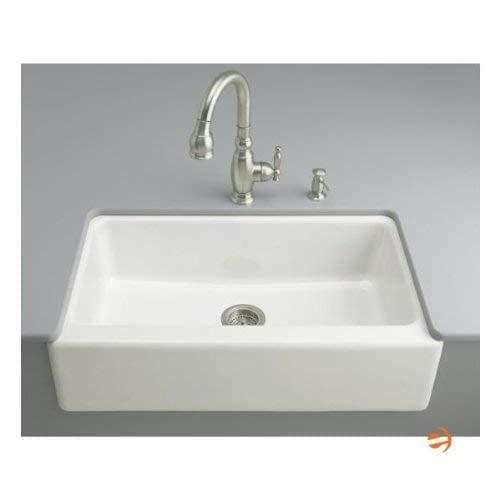 KOHLER K 6546 4U 0 Dickinson Apron Front Undercounter Kitchen Sink White 0 3