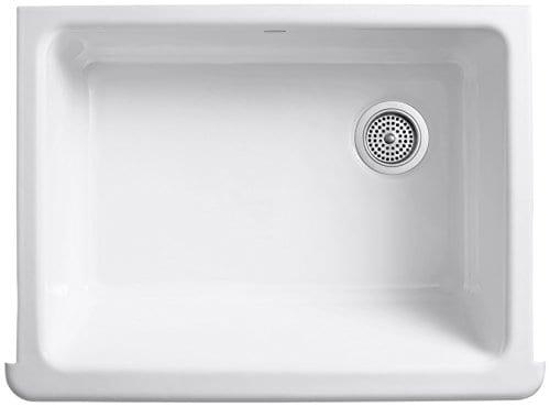 Kohler K 6486 0 Whitehaven Self Trimming 29 1116 X 21 916 X 9 58 Apron Front Under Mount Single Bowl Kitchen Sink With Tall Apron White 0 0