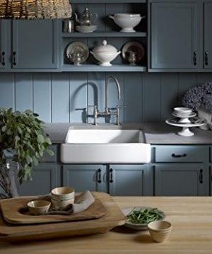 Kohler K 6486 0 Whitehaven Self Trimming Under Mount Single Bowl Kitchen Sink With Short Apron White 0 0 300x360