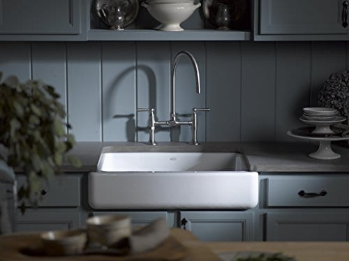 Kohler K 6486 0 Whitehaven Farmhouse Self Trimming Undermount Single Bowl Kitchen Sink With Short Apron White Farmhouse Goals