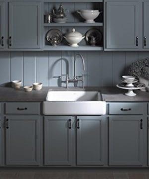Kohler K 6486 0 Whitehaven Self Trimming Under Mount Single Bowl Kitchen Sink With Short Apron White 0 2 300x360