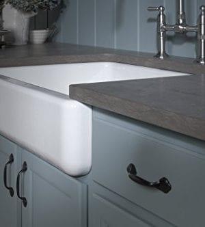 Kohler K 6486 0 Whitehaven Self Trimming Under Mount Single Bowl Kitchen Sink With Short Apron White 0 3 300x332