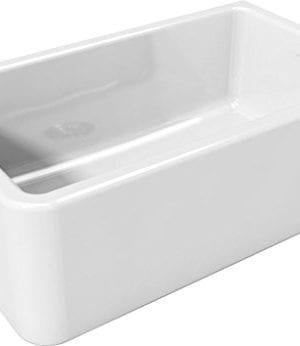 Latoscana 30 Reversible Fireclay Farmhouse Sink LFS3018W 0 1 300x346