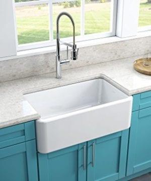 Latoscana 30 Reversible Fireclay Farmhouse Sink LFS3018W 0 2 300x360