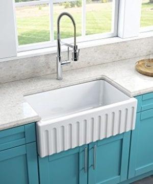 Latoscana 30 Reversible Fireclay Farmhouse Sink LFS3018W 0 3 300x360