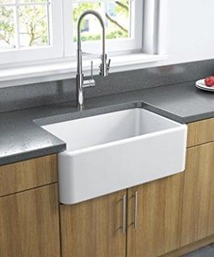 Latoscana 30 Reversible Fireclay Farmhouse Sink LFS3018W 0 4 300x360