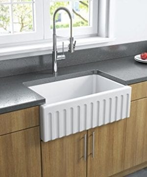 Latoscana 30 Reversible Fireclay Farmhouse Sink LFS3018W 0 5 300x360