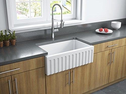 Latoscana 30 Reversible Fireclay Farmhouse Sink LFS3018W 0 5