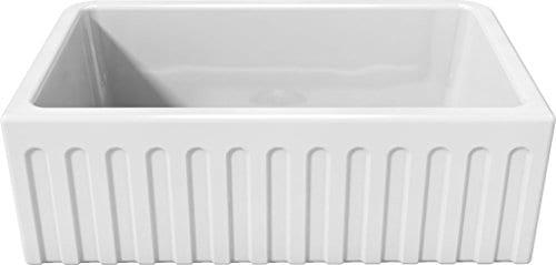 Latoscana 30 Reversible Fireclay Farmhouse Sink LFS3018W 0