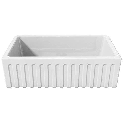 Latoscana 33 Reversible Fireclay Farmhouse Sink LFS3318W 0 0