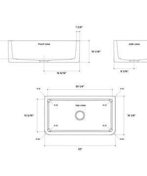 Latoscana 33 Reversible Fireclay Farmhouse Sink LFS3318W 0 1 300x360