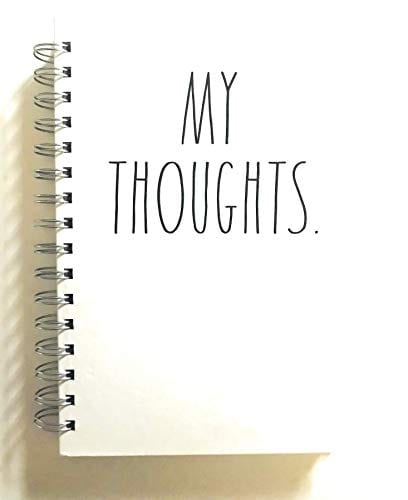 MY THOUGHTS Rae Dunn Hardcover Journal Notebook 0