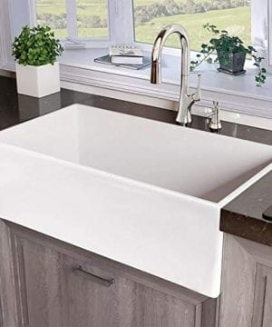 Miseno MNO33201BFC Inferno 33 Single Basin Farmhouse Fireclay Kitchen Sink 0 300x360