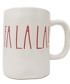 RAE DUNN Artisan Collection By MagentaFA LA LA Christmas Mug RED Inside 0 0 300x360
