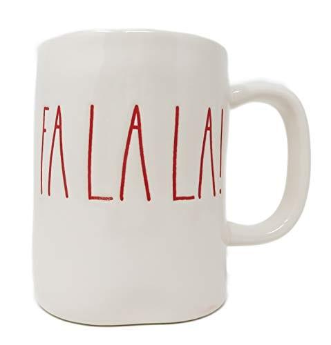 RAE DUNN Artisan Collection By MagentaFA LA LA Christmas Mug RED Inside 0 0