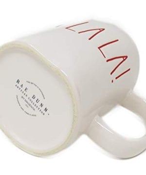 RAE DUNN Artisan Collection By MagentaFA LA LA Christmas Mug RED Inside 0 1 300x360