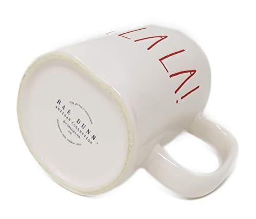 RAE DUNN Artisan Collection By MagentaFA LA LA Christmas Mug RED Inside 0 1