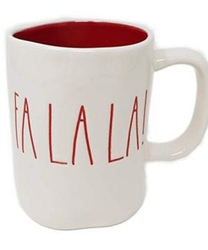 RAE DUNN Artisan Collection By MagentaFA LA LA Christmas Mug RED Inside 0 300x360