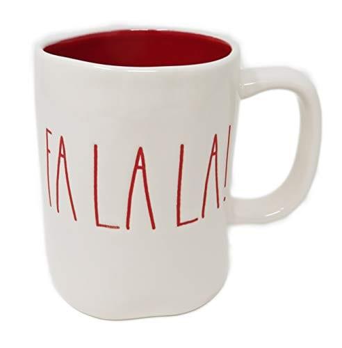 RAE DUNN Artisan Collection By MagentaFA LA LA Christmas Mug RED Inside 0
